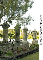 historic 1797 Boat House Pillars Nelson's Dockyard English...