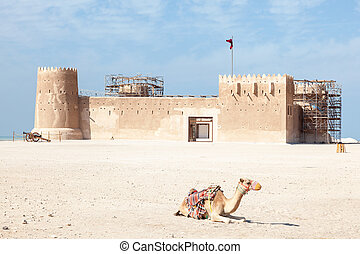 Historic Al Zubara fort in Qatar