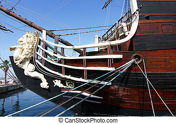 Historic and famous Spanish galleon Santisima Trinidad