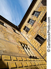 Historic Architecture in Krumlov, Bohemia, Czech Republic