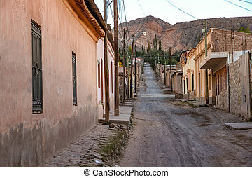 Historic architecture in Tilcara, Argentina - Landscape view...