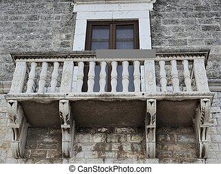 Historic balcony renaissance - Bisceglie - Apulia- Italy