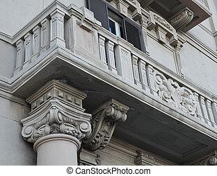 Historic balcony.