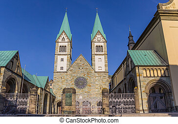 Historic Basilika in the center of Werl, Germany