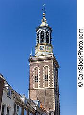 Historic belfry clock tower in Kampen