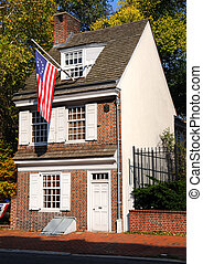 Historic Betsy Ross House in Philadephia, Pennsylvania