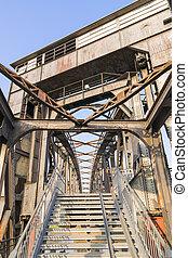 Historic bridge in Magdeburg