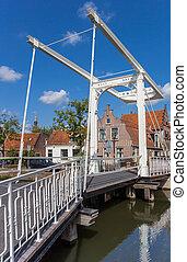 Historic bridge in the center of Edam