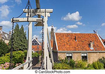 Historic bridge Kwakelbrug in the center of Edam