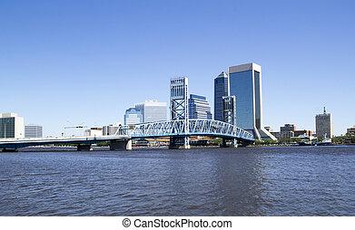 Historic bridge leading to Downtown Jacksonville Florida