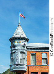 Historic Building and Flag