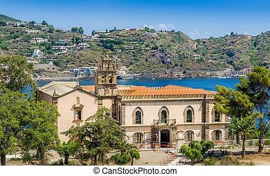 Lipari island - Historic building and Lipari island ...