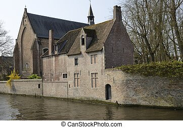 Historic building at Brugge canal