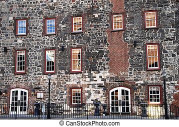 Historic Building Facade - Front Facade of a Historic River...