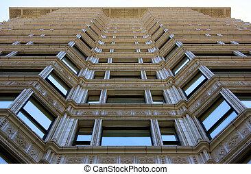 Historic building facade in Chicago, Illinois