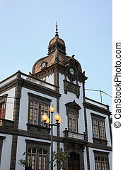 Historic building in Arucas, Grand Canary Spain