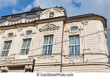 Historic building in Bratislava, Slovakia.