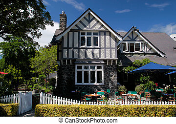 Historic Building in Christchurch, Canterbury, South Island,...