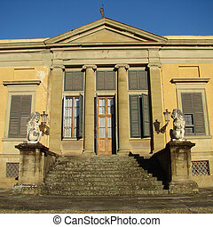historic building in famous florentine Boboli Gardens, Florence
