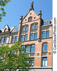 Zippelhaus - Historic building in Hamburg, Germany....