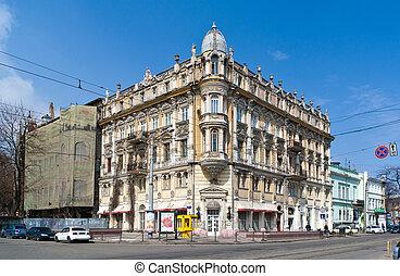 Historic building in Odessa, Ukraine. Built 1888