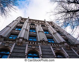 historic building in Riga, Latvia