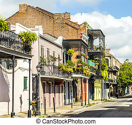 building in the French Quarter in New Orleans - historic ...