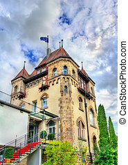Historic building in Tubingen - Baden Wurttemberg, Germany -...