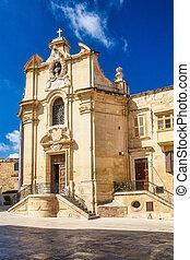 Historic building in Valletta, the capital city of Malta.