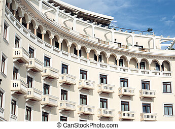 Historic building located at Thessaloniki city in Greece. Area of the old city.