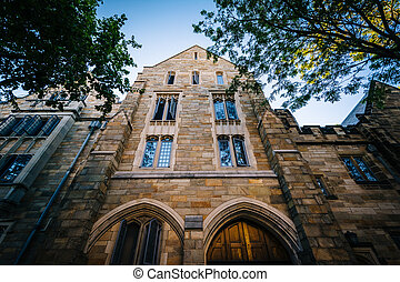 Historic building on the campus of Yale University, in New Haven, Connecticut.