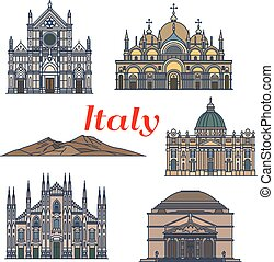 Historic buildings and sightseeings of Italy