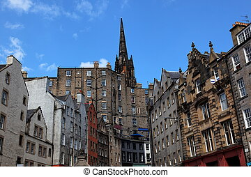 Historic buildings. Edinburgh. UK. - Historic buildings on ...