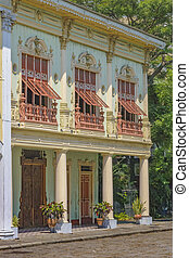 Historic Buildings, Guayaquil, Ecuador - 19th century...