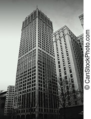 Historic buildings - High rise historic buildings and people...