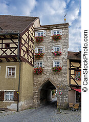 Historic buildings in Berching (Bavaria, Germany)