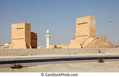 Historic buildings in Doha, Qatar, Middle East