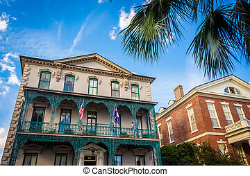 Historic buildings in downtown Charleston, South Carolina.