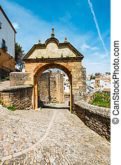 historic buildings in old town of Ronda, Spain