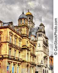 Historic buildings in the centre of Liverpool - England