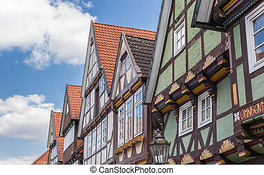 Historic buildings in the old town of Celle