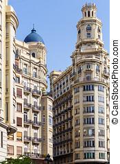 Historic buildings in Valencia, Spain