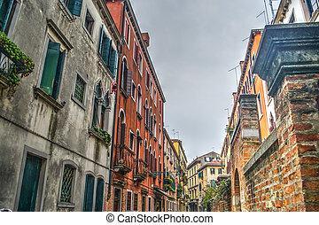 Historic buildings in Venice
