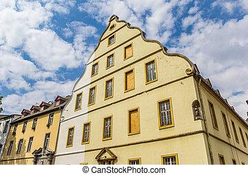 Historic Burresheimer Hof building in the center of Koblenz