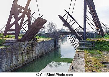 Historic Canal Draw Bridge