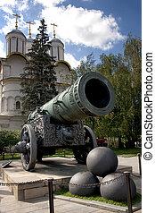 Historic canon and balls