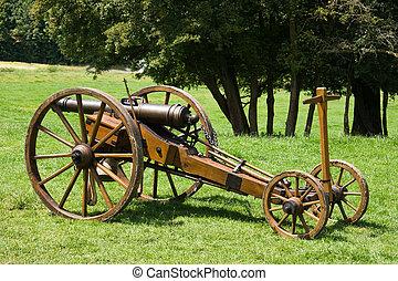 Historic canon on cart