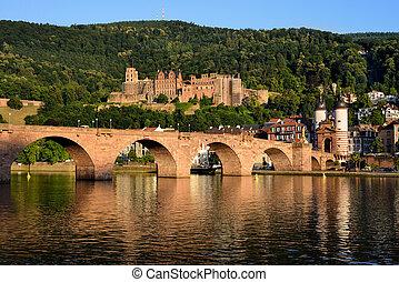 Historic castle in Heidelberg, Germany