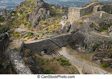 Historic castle in Monsanto Portugal