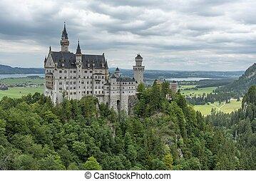 Historic castle Neuschwanstein in Germany
